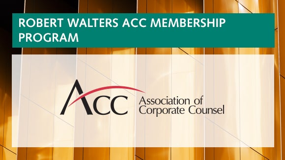 robert walters acc membership program