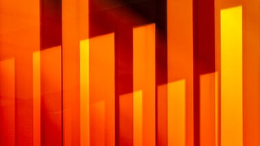 orange abstract with lighting
