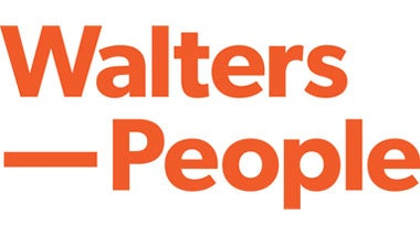 Walters People logo on orange background